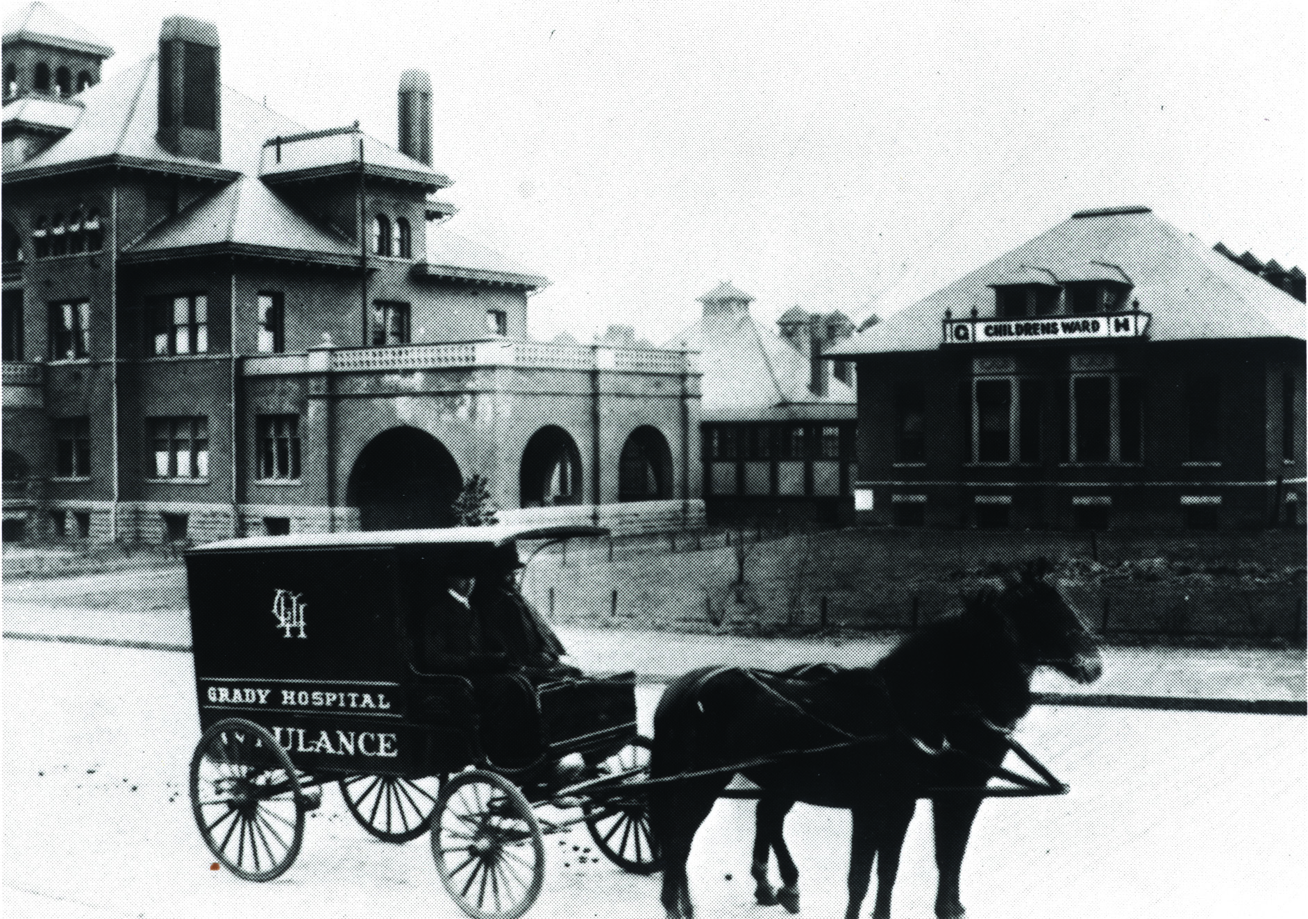 Ambulance outside Grady 1892