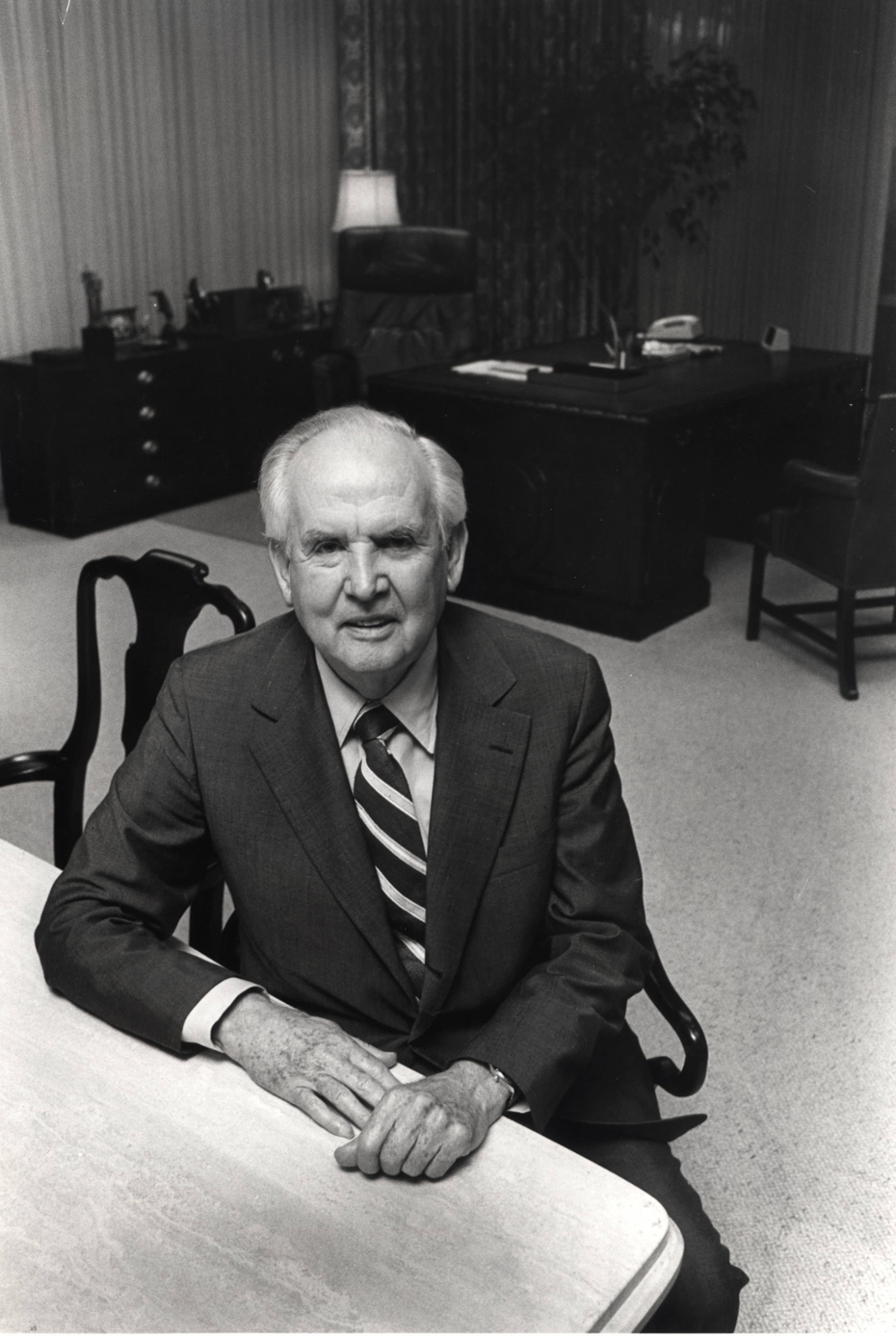 O. Wayne Rollins in his office