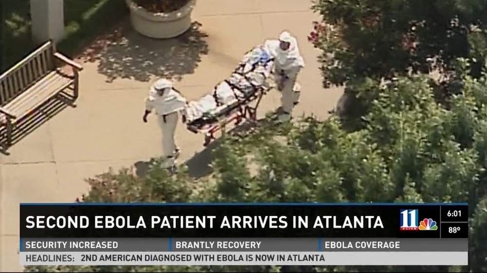 TV coverage of Ebola patient on campus